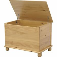 Sol Ottoman Storage Chest Solid Pine Toy Chest Or Blanket Box Bedroom Furniture