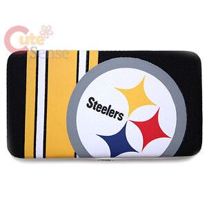 NFL Pittsburgh Steelers Wallet Organizer Mesh Hinge Flat Ladies Wallet