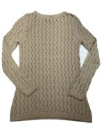 Terry Lewis Sweater Small Classic Luxuries Open Knit Tunic Linen Blend New