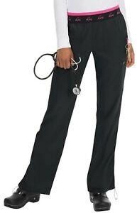 "Koi Lite Scrubs #720 Elastic Waist Cargo Scrub Pant in ""Black"" Size L"