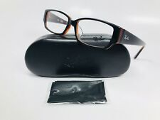85d5fecaf51 🔹New Ray Ban RB 5250 2044 Black on Red Tortoise Eyeglasses 54mm with Case