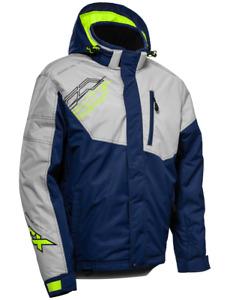 Castle X Phase G3 Jacket Silver/Navy/Hi-Vis Men's Snowmobile Coat M-2XL