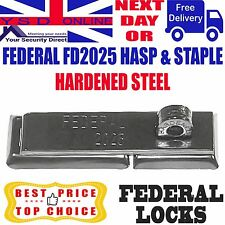 HASP AND STAPLE HEAVY DUTY FOR VAN/SHED/GATE/GARAGE HARDENED STEEL FD2025