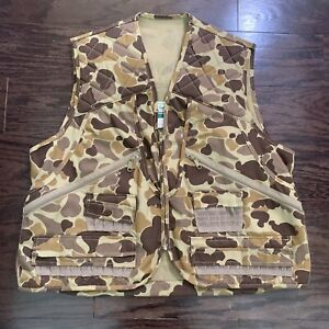Vintage Gander Mountain Chukkar Camo Camouflage Duck Hunting Vest Mens Sz Large