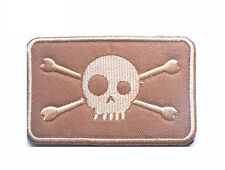 JACK NAVY SEAL PIRATE FLAG DEVGRU NSW JOLLY ROGER DESERT EMBROIDERED PATCH