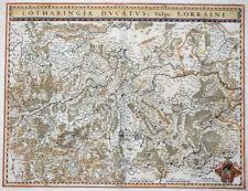 FRANKREICH HERZOGTUM LOTHRINGEN LOTHARINGIA DUCATUS VULGO LORRAINE BLAEU 1642