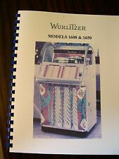 Wurlitzer 1600 Jukebox manual