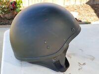 Vintage 1968 Motorcycle Half Helmet DOT Black sz M