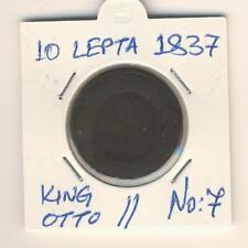 Greece. 10 Lepta 1837 L@@K, Greek Coin RRR, King : Otto, No: 7
