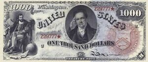 "United States Notes ""Rainbow"" $1 - $1000, 1869, Complete Set REPRODUCTION"