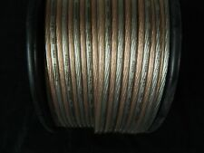 8 GAUGE SPEAKER WIRE 25 FT CLEAR PAIRED CABLE AWG STEREO CAR MONSTER SUBS