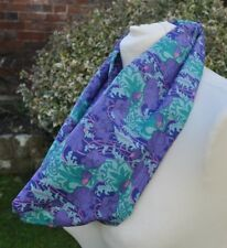 Infinity Scarf in vintage Liberty Tana Lawn cotton  clementina purple, blue pink