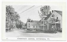 VT Pittsfield Vermont Mobil Gas Station Church Community Center Advertising PC