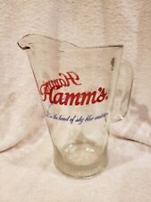 Beautiful 1960's Hamm's Beer 9 Inch Glass Pitcher, Super Nice!
