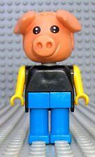 Légo x599c02 Fabuland Personnage Figure Cochon Hugo Pig 2 du 3784
