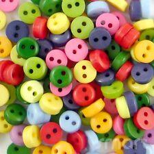 200pcs Plastic Mixed Round Button Lots Bulk Sewing Craft 6mm Cards Embellish DIY