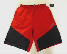 Spalding Regular Fit Shorts Mens Medium Red Black Elastic Waist Drawstring New