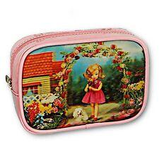 3D Lenticular Pink Purse Make-Up Bag Little Girl in Rose Garden #SSP-066-ROMA#