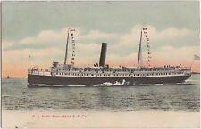 1908 SEBAGO LAKE Maine S.S. Company NORTH STAR Postcard SHIP Boat