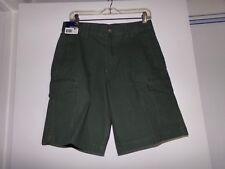 Basic Editions Men's Woven Cargo Shorts - Size 30 - Green
