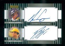 2008 Razor Signature Dual Black Autograph David Cooper/Brett Wallace 12/25