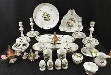 Bird China-Serving, Decorative, and Table Items- Herend Rothschild- 22 Piece Lot
