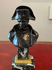 Napoleón bronze bust on natural stone