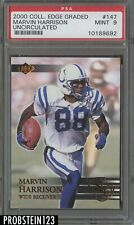 2000 Collector's Edge Graded #147 Uncirculated Marvin Harrison Colts PSA 9 MINT