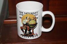 Norman Rockwell Saturday Evening Post Christmas Mug- Santa with Globe