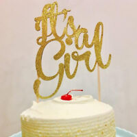 Its a girl cake topper baby shower baby girl gender reveal