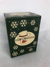 1998 Sarah's Attic Snowonders January Snowman Figurine