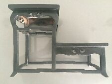 VINTAGE TWO TIER EBONISED TIMBER STAND w/ MARBLE INSETS 280 L x 140 W x 205mm H