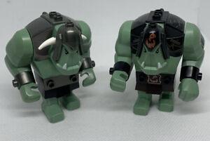 2009 Lego Castle Fantasy Era Sand Green Trolls minifigures Big Figs Lot 7097 #10