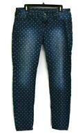 Maurices Womens SIze Large Pants Light Blue Denim Straight Leg Jeans Jeggings