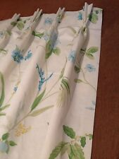 Laura Ashley Orchid Apple Green Flower Curtains Pinch Pleat Made To Measure