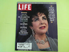 ELIZABETH TAYLOR COVER LIFE MAGAZINE NEW!!! VINTAGE RARE COLLECTABLE