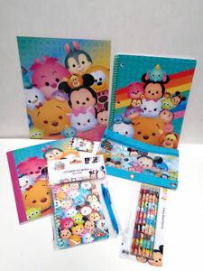DISNEY Tsum Tsum School 12PC Stationary Set Pencil Pouch Composition Book Folder
