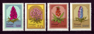 Madeira 1981 Flowers, set of 4, Portugal. UNM / MNH