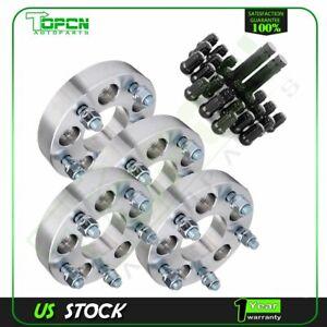 """4Pc 1.25"""" 32mm Thick 5x4.5 to 5x5 1/2"""" wheel spacers+23Pcs Lug Nuts+2 Keys"""
