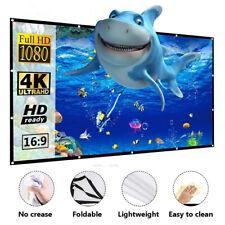 """100""""& 120'' Portable Foldable Projector Screen 16:9 HD Home Theater 3D Movies"""