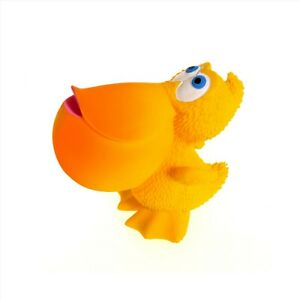 Natural rubber Teething Bath Toy Sami the Pelican by Lanco, with squeaker