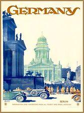 Germany Berlin Vintage German Vintage Travel Advertisement Art Poster Print