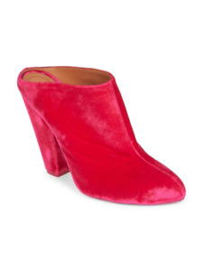 Givenchy Fash Velvet Mules Booties Fuchsia 36.5 MSRP: $895.00