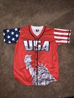 Usa Donald Trump Red Jersey #45 Statue Of Liberty And Usa Flag Fits As XL