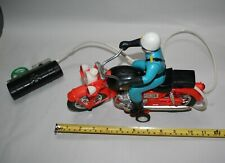 """Vintage Battery Powered Police Motorycle 1960's with Box 12"""" L Speed Cycle"""