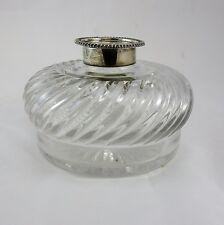 Vintage 1948 Cut Crystal Jar With Sterling Silver Lid