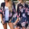 mujer floral playa chiffon Holgado Chal Chaqueta Kimono Top Vestido Pareo blusa
