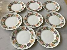 "8  Paragon China ""Country Lane"" Honeysuckle Pattern - Dessert Plates"