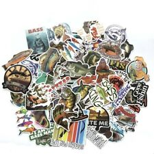65 Fishing Sticker Bomb Pack Lot Mixed Fish Bait Laptop Car Rv Boat Vinyl Decals