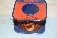 BELDEN 8062 AWG #20 HNC-NYCLAD MAGNET WIRE 6 ounces REMAINS OF 1/2 lb. SPOOL